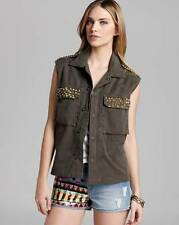 GUESS JEANS MS SIZE MEDIUM ARMY GREEN MILITARY CONCERT FASHION DENIM VEST