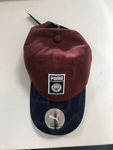 Manchester City Adults Cap Archive DNA Hat - Red - New