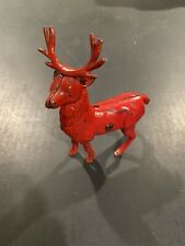Vintage Cast Iron Stag Buck Deer - Original Red Paint Highly Collectible Rare