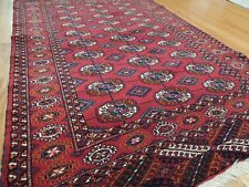3x5 4x5 Bokara style Turkoman Rug Oriental Area Rug Turkish Red Purple Turkey