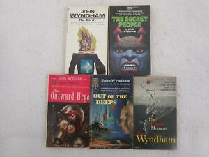 Lot of 5 John Wyndham RE-BIRTH  OUTWARD URGE OUT OF THE DEEPS INFINITE MOMENT