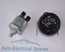 """24v electrical oil pressure gauge and sender  0-10 bar 1/8"""" NPTF"""