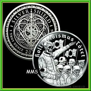 2021 1oz Collectivism Kills H****r Proof Silver Shield MicroMintage PRESALE