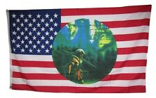 3x5 Indian Hunter Shadow Wolf USA US Flag 3'x5' house banner grommets