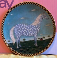 More details for ivory porcelain-warren kimble-barnyard animals-polka dot dapple-grey-p.no a6766
