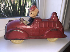 New listing Vintage Walt Disney Mickey Mouse Sun Rubber Products Toy Fire Truck With Donald