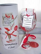 New Lolita Personalize It Wine Glass Guest Book