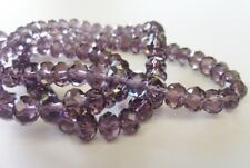 70 pce Indigo Faceted Crystal Cut Abacus Glass Beads 8mm x 6mm Jewellery Making