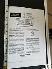 Pioneer Ct-93/Ct-979/Ct-41/Ct-777 /Ct-S709/Ct-676 Operating Manual