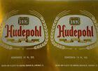 Vintage Unrolled Aluminum Beer Can Flat Hudepohl Beer 1960s