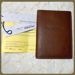 NWT DOONEY & BOURKE Florentine Leather Passport Case Chestnut Authentic $78