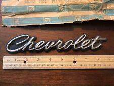 NOS GM 1965 Chevrolet Grille Plate Emblem Part #3855483, Caprice Impala Bel Air+