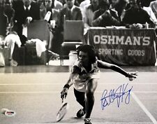 BILLIE JEAN KING SIGNED AUTOGRAPHED 11x14 PHOTO TENNIS LEGEND VERY RARE PSA/DNA