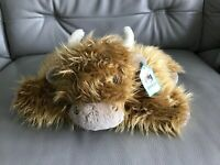 """Jellycat - Truffles Highland Cow 13"""" Medium Soft Pillow Toy Tagged"""