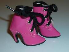 Hot Pink Lace Up Heel Boots Fits Ellowyne, Cami, Antoinette Deja Vu Tonner 50mm