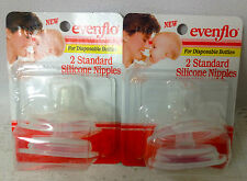 Vintage Evenflo Disposable Silicone Nipples Fits Playtex Drop In Bottles