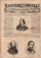 1867 Harper's Weekly July 13 - Evanston IL; Macon GA; Faneuil Hall in Boston