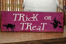 Trick Or Treat Wall hanging Metal Halloween Sign