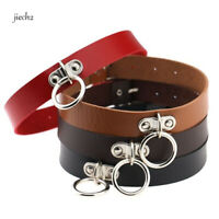 Women Punk Gothic Leather Choker Necklace Collar Rivet Buckle Neck Ring Jewelry