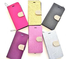 """Bling Folio wallet phone case cover skin fitted For iPhone 6 4.7"""" +screen shield"""