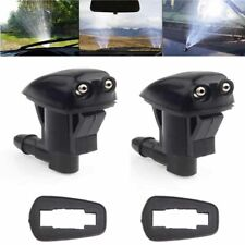 Pair Black Car Front Windshield Wiper Water Spray Jet Washer Nozzle Accessories
