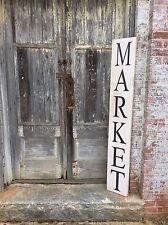"Large Rustic Wood Sign - ""Market"" 5 Feet Long! - Farmhouse Style"