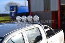 To Fit 05 - 15 Mitsubishi L200 Triton Sport Roll Bar Polished Rollbar + Spots