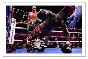 TYSON FURY & DEONTAY WILDER  Signed Autograph PHOTO Gift Signature Print BOXING