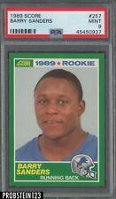 1989 Score #257 Barry Sanders Lions RC Rookie HOF PSA 9 MINT