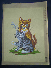 Superbe toile / Canevas à faire / Les chats / N° 2093 / NEUF
