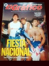 NACIONAL de MONTEVIDEO CHAMPION - El Grafico magazine Uruguay 1990's