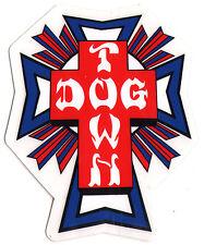 Dogtown Skates Cross Logo Flag Skateboard Sticker - old school skateboarding sk8