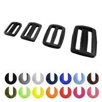 Plastic Fixed Bar Slide Buckle 3 bar Delrin Adjuster triglide webbing 20 - 50 mm
