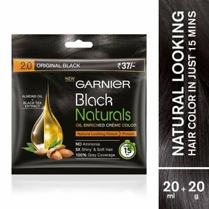 Garnier Black Natural Hair Colour |Original Black 2.0 | 20g + 20ml |Exp. 08/2022