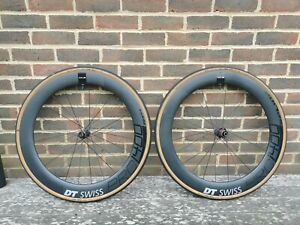 DT Swiss Prc 1400 65mm Deep Carbon Wheels Three Months Old rrp £1800