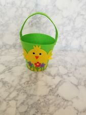 Cute yellow chick felt basket. Great for Easter or collecting Halloween candy.