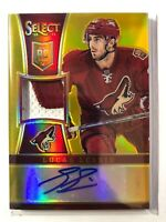 2013-14 Panini Select Lucas Lessio Rookie Patch Auto Coyotes RC 07/10