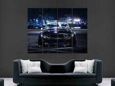 BMW M3 E30 BLACK CAR CLASSIC SPORT FAST TUNING PRINT LARGE HUGE