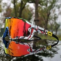 NEW 2020 Polarized Cycling Glasses Mountain Bike Goggles Sports 4 LENS UV400