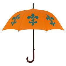 Fleur-De-Lys Print Umbrella Orange/Turquoise San Francisco Umbrella Company