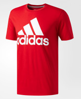 Mens Adidas Badge of Sport Classic Red Logo Athletic Ultimate Tee Shirt Size XL