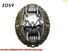 steampunk badge brooch pin gearwheel cog bronze bat horror dracula vampire #SD4