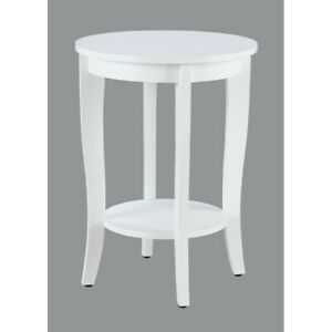 Convenience Concepts American Heritage Round End Table, White - 7106259W