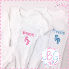 Personalised baby grow embroidered SLEEPSUIT Birth Gift