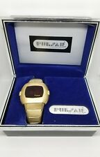 Vintage Pulsar Watch P3 1970s  LED 14k Gold Filled 007 James Bond Watch Retro