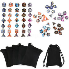 35pcs Polyhedral Dice Set for Dungeons & Dragons D20 D12 D10 D8 D6 D4 Games+Bag