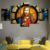 Great Lord Jesus Poster Wall Art Morality Happiness Home Decor 5pcs Canvas Print