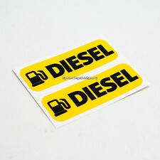 2x DIESEL FUEL Laminated Weatherproof Car,Van,Taxi,Bus Vinyl Label Stickers