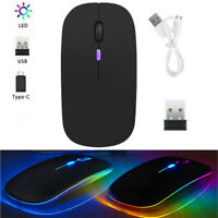 BT5.2 Wireless Optical Mouse USB Rechargeable Cordless Mice For Computer Laptop