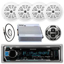 Marine Kenwood MP3  Pandora Receiver Antenna,400W Amp,4 Speakers,Wired Remote